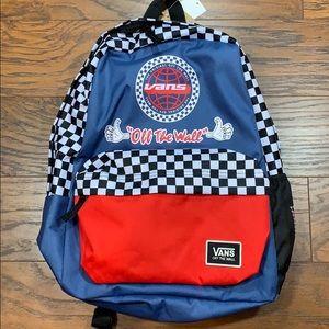 VANS BMX BACKPACK blue/black/white/red